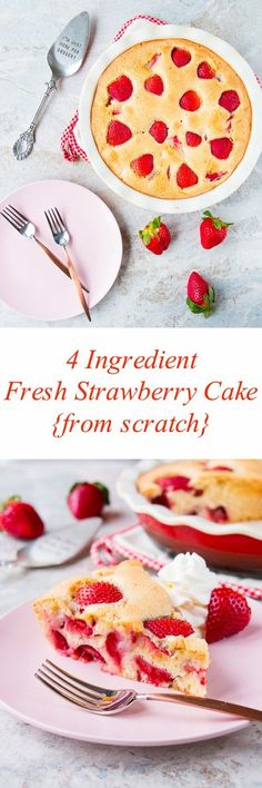 See how easy it is to make this delicious cake. If you like strawberries, then this cake made is for you!