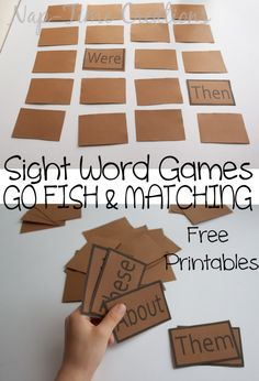 One set of Printable game cards - two games from Nap-Time Creations. OR download the blank cards and fill in your own words!