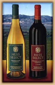 Hess Select Chardonnay & Cabernet Sauvignon.