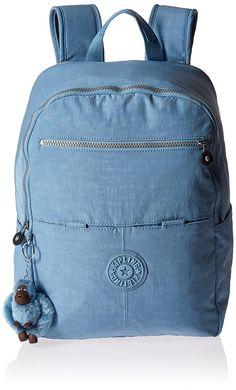 35d5ea0b4ffe Kipling Aideen Large Backpack Padded Laptop Tech Friendly in Blue Grey
