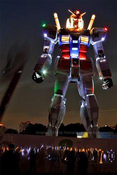Gundam Robot Sculpture Beautiful 59-foot-tall Gundam robot sculpture from Tokyo, Japan