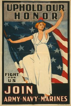 Examples of Propaganda from WW1 | WW1 Marine Posters Page 12