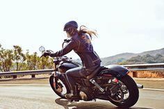 "motorcycles-and-more: "" Biker girl on Harley-Davidson"""