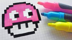 Handmade Pixel Art - How To Draw Kawaii Ghost Mushroom - рисунки по клеточкам - halloween art How To Pixel Art, Pixel Art Grid, Pixel Art Champignon, Pixel Kawaii, Modele Pixel Art, Pixel Drawing, Anime Pixel Art, Pixel Art Templates, Diy Perler Beads