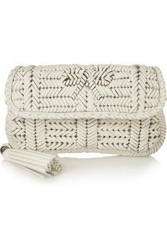 Anya Hindmarch Rossum woven leather clutch #LuxeTraveler #THEOUTNET #AnyaHindmarch