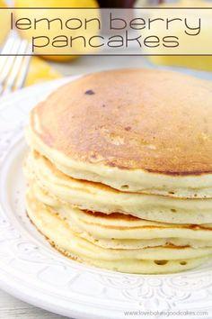 Lemon Berry Pancakes by Jamie @ Love Bakes Good Cakes