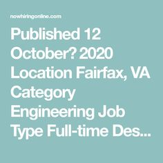 Published 12 October، 2020 Location Fairfax, VA Category Engineering  Job Type Full-time  Description Job Description: Leidos is a Fortune 500™ company aimed at embracing and solving some of the world's most pressing challenges. Through science and technology, Leidos makes the world safer, healthier and more efficient. Our Civil Group offers an array of ... Business Administration Jobs, Dallas, Capacity Planning, Finding The Right Job, Engineering Jobs, Senior Management, Financial Analysis, Accounting Manager, Financial Information