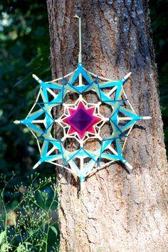 Items similar to Roots 12 inch Yarn mandala god's eye ojo de dios on Etsy Yarn Crafts For Kids, Arts And Crafts, Diy Crafts, Gods Eye, Fractal Art, Mandala Art, String Art, Solitude, Wind Chimes