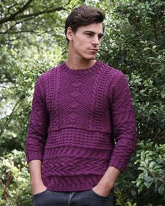 bab688db9 Claes textured knit sweater in MillaMia Naturally Soft Aran - Downloadable  PDF Knitting Sweaters