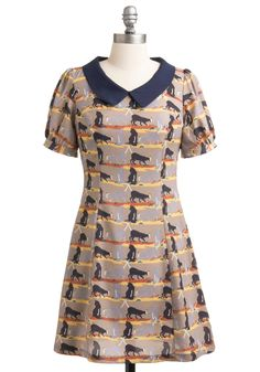 Cats the Ticket Dress. Youve been working hard handcrafting a blanket to donate to tonights fundraiser gala for your local animal shelter. #multi #modcloth