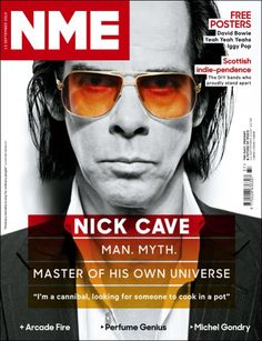 Great cover with Nick Cave, NME (UK). Collected By: http://www.rotterdam-vormgeving.nl