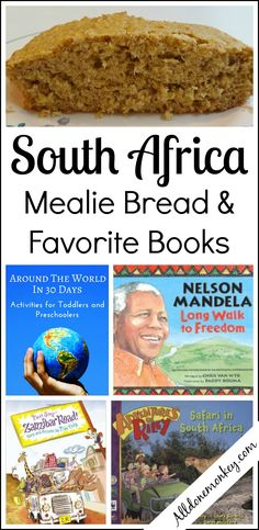 South Africa: Mealie Bread Recipe and Favorite Books - All Done Monkey Preschool Cooking, Cooking With Kids, Preschool Activities, Around The World Theme, Around The Worlds, Africa Craft, Kindergarten Themes, Homeschool Kindergarten, Geography Lessons