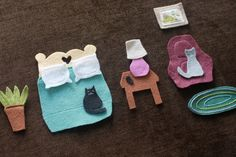 craft kids, feltboard, sew, idea, quiet book, house furniture, felt boards, shape crafts, doll houses