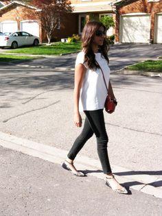 wearing Zara, Topshop, & Coach