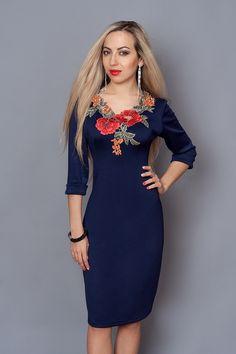 """Красивое платье с вышивкой от производителя. Размеры 50-56 - купить по лучшей цене в Хмельницком от компании """"Интернет-магазин одежды """"Дива-Александра"""""""" - 237041703"""