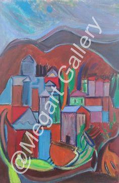 ΚΑΛΛΙΤΕΧΝΗΣ:ΜΠΟΝΓΚΑΡΝΤ ΖΑΧΑΡΟΥΛΑ ΔΙΑΣΤΑΣΕΙΣ:69X95CM ΑΚΡΥΛΙΚΑ TIMH:1000,00 € Blue Artwork, Shades Of Blue, Painting, Painting Art, Paintings, Painted Canvas, Drawings
