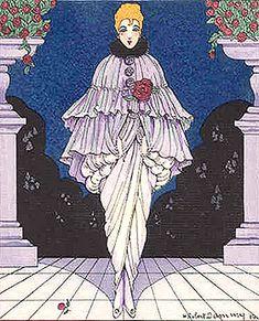 Robert H. Dammy: She was called Manon - reproduction oil painting Art Deco Fashion, Fashion Prints, Unique Fashion, Fashion Design, Charles Frederick Worth, Paul Poiret, Lanvin, Flapper Style, Flapper Fashion