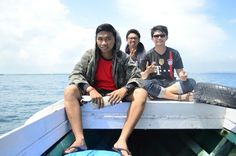 On the boat on our way back to Bontang
