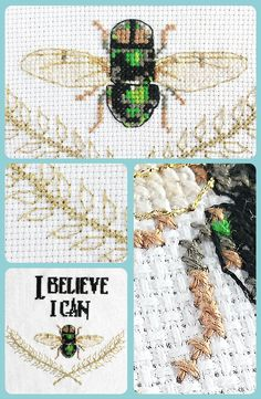 Love this pun! I Believe I Can Fly, one of the newest funny cross stitch patterns in the Spirited Animals collection