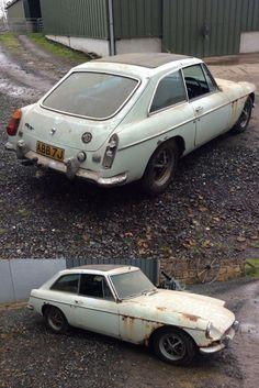 1970 MGB GT barn find Project Cars For Sale, Barn Finds, Chrome, Ebay, Cutaway