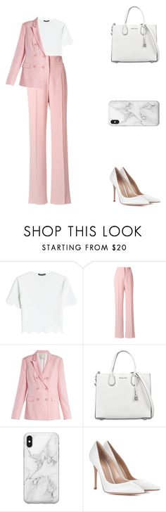 """The darkest little paradise."" by a-mess-of-a-dreamer ❤ liked on Polyvore featuring Alexander McQueen, Rochas, TIBI, MICHAEL Michael Kors, Recover and Gianvito Rossi"