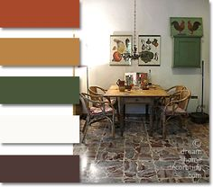 (love the colors not the kitchen) Tuscan color palette: Tuscany kitchen colors in a small farmhouse, Tuscany, Italy