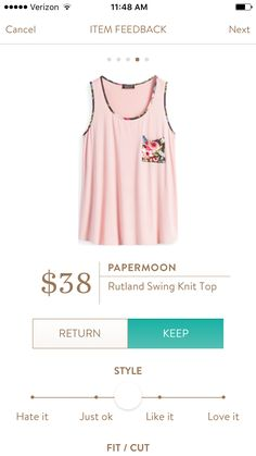 Papermoon- Rutland Swing Knit Top.  Want to try Stitch Fix? Sign up here....https://www.stitchfix.com/referral/5198264