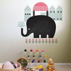 Asian Elephant ~ Chalkboard