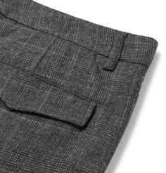 <a href='http://www.mrporter.com/mens/Designers/Barena'>Barena</a> is an expert on easy, relaxed tailoring that's made from the finest fabrics. These turned-up trousers are tailored from Prince of Wales checked wool that's light enough to wear all year round. Pleats along the waistband ensure that the slim tapered shape sits just right. Wear yours with the [coordinating waistcoat id983040].