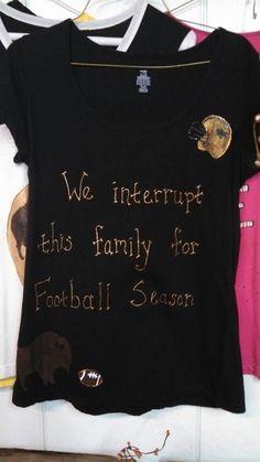 Hand Painted Football Tshirt by CherishEveryMomentSF on Etsy, $14.99