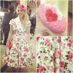 Bride to be in her handmade BooBoo Kitty Couture dress at Ladies Day at Ascot today