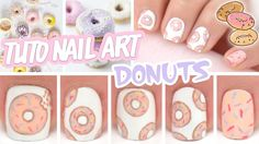 Nail art ♡ Donuts✿❤Thank❤You✿I❤❤❤You❤✿