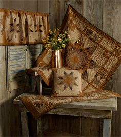 Autumn Splendor Tea Dyed Quilts | Choices Quilts offers Autumn Splendor Tea Dyed Quilts handmade for you! You can shop online or call us toll-free @ 1-800-572-2070 or 770-641-9700.
