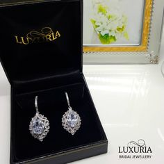 Bride / Bridemaid Jewelry Gift.  High quality product & packaging.  Rhodium plated 925 sterling silver decorated with diamond simulants.  Luxuria Jewellery