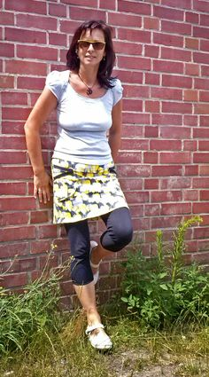 Rock Frau Hilda - hedinaeht dawanda Lillestoff - butterflies