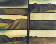 This intense, early landscape painting by New Zealand artist Colin McCahon compliments my previous post about McCahon's later text paintings. McCahon divides the space in this painting accord… Artist Painting, Painting & Drawing, Auckland Art Gallery, New Zealand Landscape, New Zealand Art, Nz Art, Landscape Paintings, Landscapes, Landscape Art