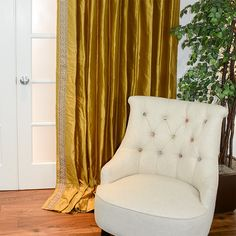 Custom Drapery in Antique Gold with Earth Greek Key Custom Drapery, Drapery, Curtains, Curtain Hardware, Drapestyle, Home Decor, Fabric Design, Upholstery, Drapes
