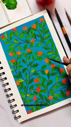Mini Canvas Art, Diy Canvas, Gouache Painting, Watercolor Paintings, Watercolor Flowers Tutorial, Watercolor Art Lessons, Simple Canvas Paintings, Art Painting Gallery, Guache