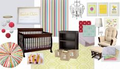IHeart Organizing: Baby Blakes Beautiful & Bright Nursery .  I'm not expecting anymore children, but some of the ideas are so cute!