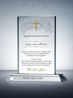 Appreciation Plaque for Pastors, Priests, Deacons | Pastor ...