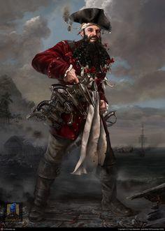 Costume Props Pirate Captain Jack Cosplay Weapon Sword Knife Gun Blinder Telescope Big Beard Flag Kid Toys Halloween Cosplay Accessories