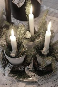 Christmas Pastels, Silvers & White by nannie