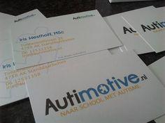 Prachtige visitekaartjes voor Autimotive. Ontworpen door Bregje van Gellecum