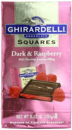 Ghirardelli Chocolate Squares, Dark & Raspberry Filled, 5.32-Ounce Packages (Pack of 6) - http://bestchocolateshop.com/ghirardelli-chocolate-squares-dark-raspberry-filled-5-32-ounce-packages-pack-of-6/