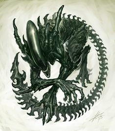 Alien <3 This would be such a sick tattoo!