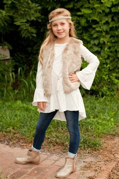 Pre Order Girl's ST Ivory High Low Peasant Top (October) – Southern Tots