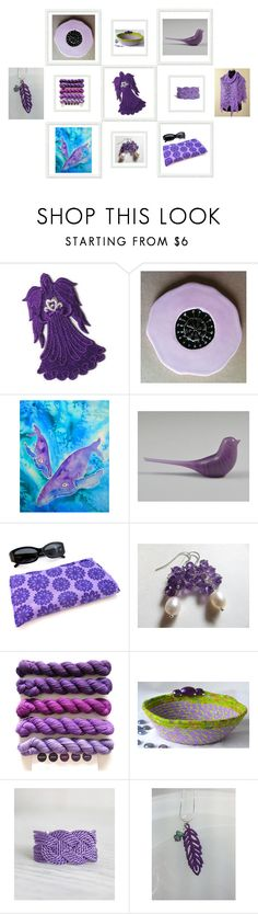 """Purple gifts"" by keepsakedesignbycmm ❤ liked on Polyvore featuring Cadeau, jewelry, accessories and decor"