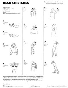 Desk Stretches - Click  - I lost 26 pounds from here EZLoss DOT com #products #fitness
