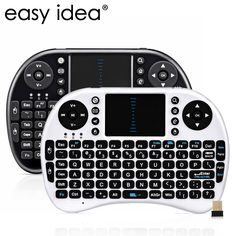 EASYIDEA Mini Wireless Keyboard i8 Air Mouse Wireless QWERTY Keyboard Touchpad English USB Gaming Keyboard For Android TV Box