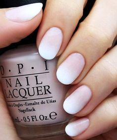 Faded French Nail Design